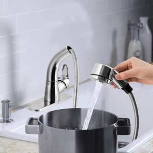 Voolan Kitchen Faucets with Pull Down Sprayer